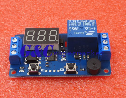 12V Display LED Timer Relay Programmable Module Delay Switch Board
