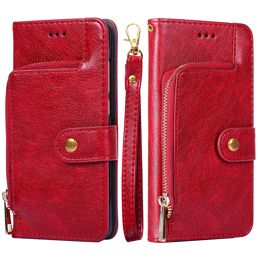 Oneplus 6 6T Leather Case Flip TPU Cover for Oneplus One 2 3 5 5T Zipper Wallet Phone Cases with Card Slot Stander Shell Coque