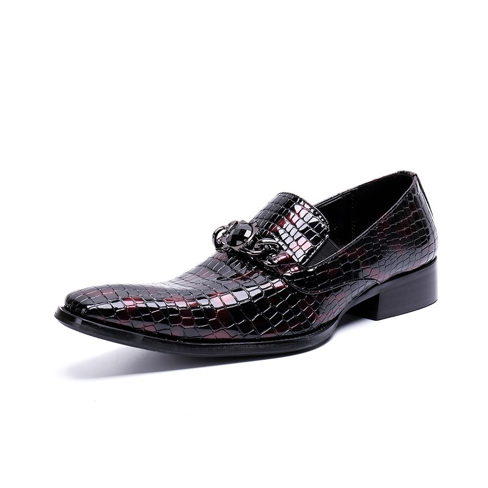 Zapatos Cuadrado Dura Italiano As Genuino Dedo Cuero Oficina Chaussure Picture Pie Formal Cocodrilo 2019 Oxford Del Hombres Para Homme Picture as Patente De Zapato Mocasines qHxEYpA