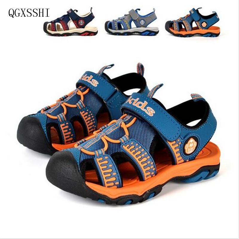 QGXSSHI Boys Girls Summer Shoes Children Beach Sandals Closed Toe Flats Kids Sandals EU Size 26-37 Ultra-light Non-slip Footwear