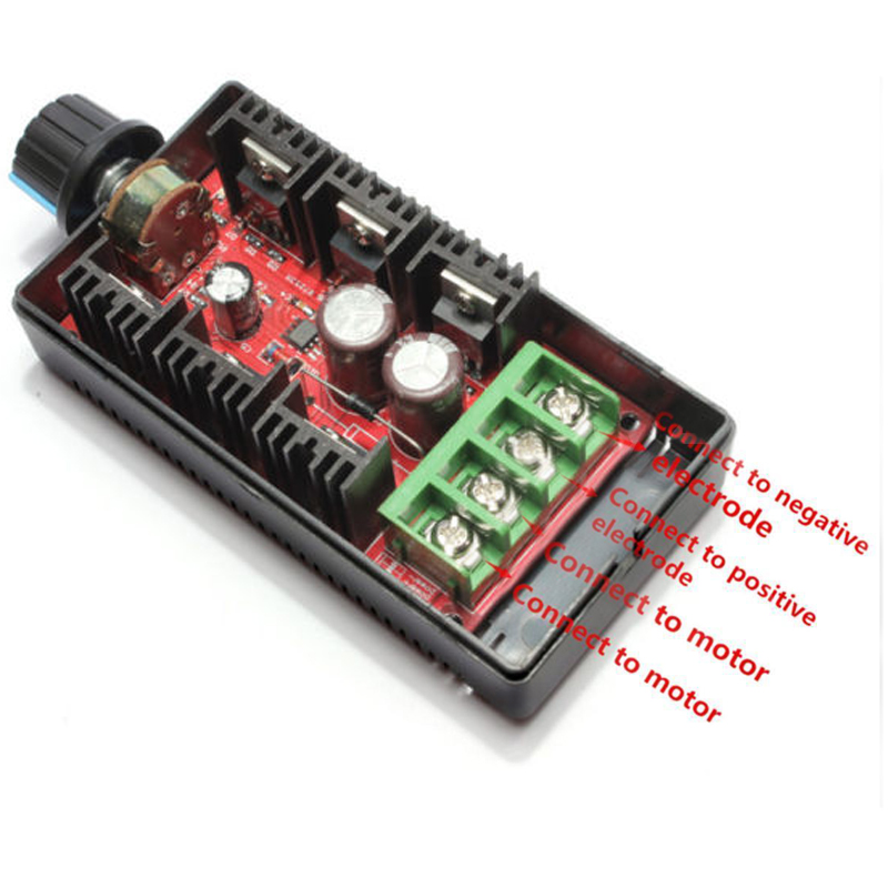 1pc 2000W MAX <font><b>DC</b></font> Electronic Speeder PWM Motor Speed Governor Controller Speed Controller <font><b>12</b></font>/24/36/50V <font><b>40A</b></font> image