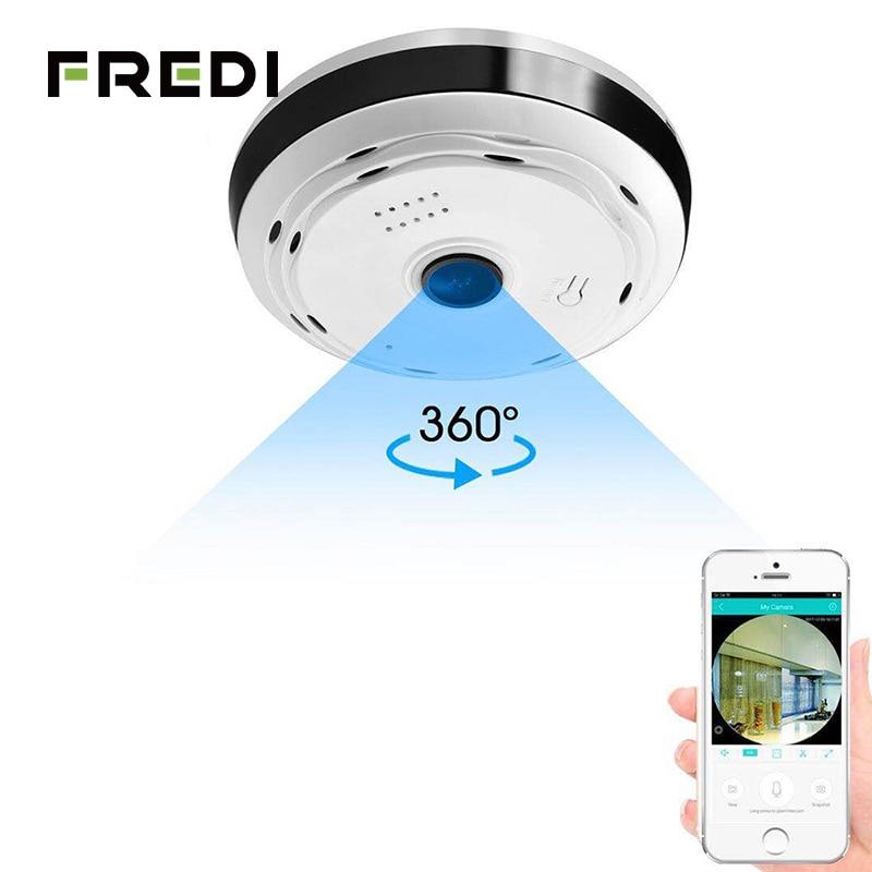 FREDI Fisheye IP Camera WiFi 960P HD 1.3MP 360 Degree Panoramic Wireless Home Security CCTV Camera IR Night Vision IP Camera 1 3mp 960p hd wireless intercom ip camera ir night vision