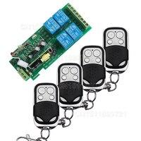 Smart Home 85v 250V 110V 220V 4CH RF Wireless Remote Control Relay Switch Security System Garage
