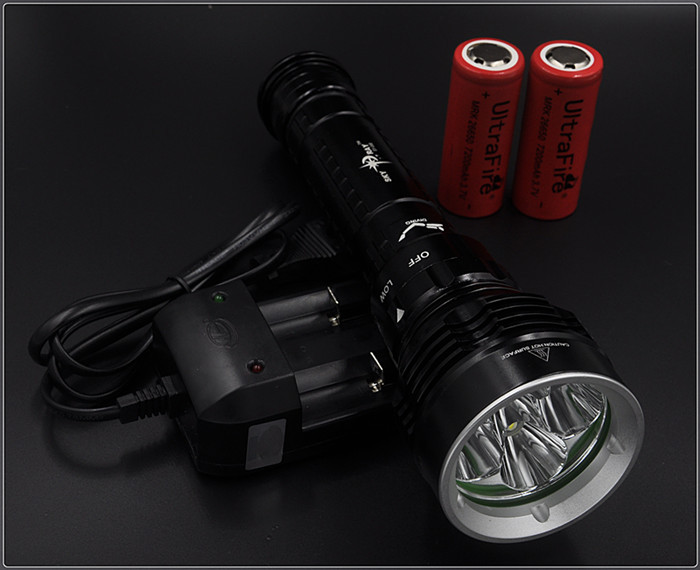 8000lm 100m Underwater Diving Flashlight Torch 5xCREE XML L2 LED Waterproof Light Lamp Dive Lanterna - Hikingstar store