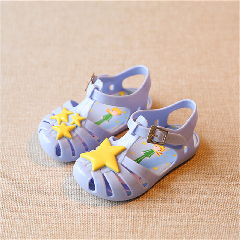 2017 fashion star pattern soft soled breathable jelly shoes new arrive children s girl and