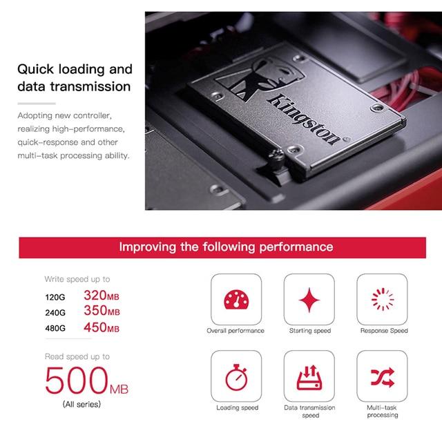 Kingston A400 SSD 120GB 240GB 480GB 2.5 inch SATA III HDD Hard Disk HD SSD Notebook PC 120 240 480 G Internal Solid State Drive 1