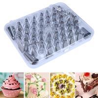 Kek Nozullar Ağız Çerez Kiti Set Heads 52 adet/takım Paslanmaz Çelik Dekorasyon Aracı Ağız Boru İpuçları Gül Çiçek Yaprak Bakeware