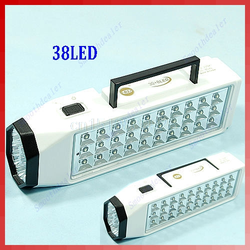 Mini 38-LED Rechargeable Emergency Light Lamp High Capacity