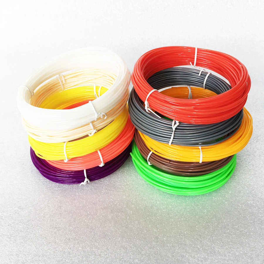 10 m 10 kleuren 3d Printer Filament Optionele 1.75mm ABS voor Printer Pen Verbruiksartikelen Levert MakerBot