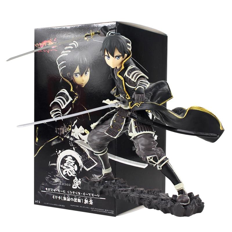 16.5cm Sword Art Online Code Register Goukai Black Dark Tiger Kirigaya Kazuto Kirito Figure Action PVC Collectible Model Toy
