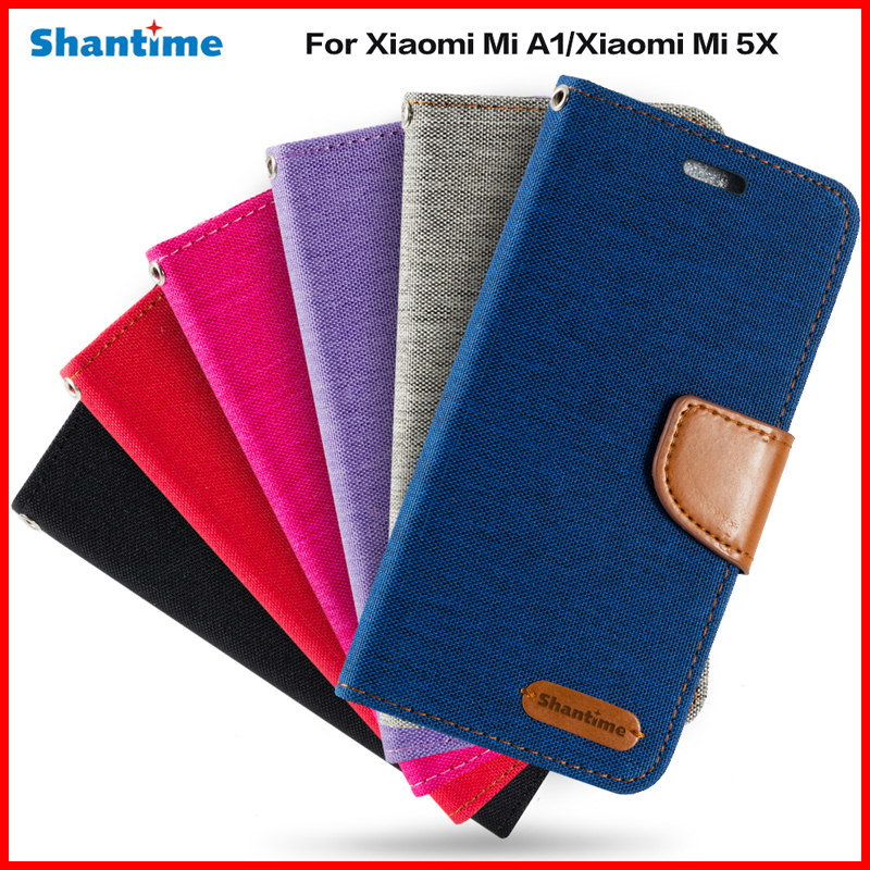 Leather Wallet Case For Xiaomi Mi A1 Flip Phone Case Tpu Soft Silicone Back Cover For Xiaomi Mi 5X Business Book Case
