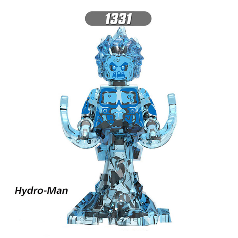 Single Sale Compatible LegoINGlys Far From Home Spider-Man Maria Hill Hydro-Man Ned-Liz Building BlockS Dolls Toys BABY X0266