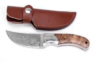 Image 3 - חם להב קבוע ציד סכין חד 440 להב חיצוני הישרדות סכין עץ ידית קמפינג טקטי אולר משלוח חינם