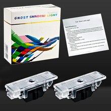 лучшая цена 2Pcs/lot LED Car Door Logo Light For BMW E39 X5 E53 528i E52 BMW Logo Laser Ghost Shadow Logo Projector Light E39 Accessories