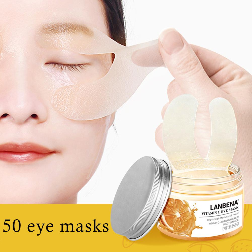 VC Eye Mask Acid Eye Patches Reduces Dark Circles Bags Remover Nourish Firming Skin Care For Women Anti Age Masks in Creams from Beauty Health