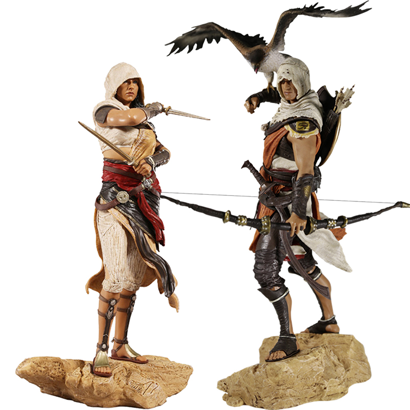 28cm Creed Origins Bayek Aya Pvc Action Figure Collection Model