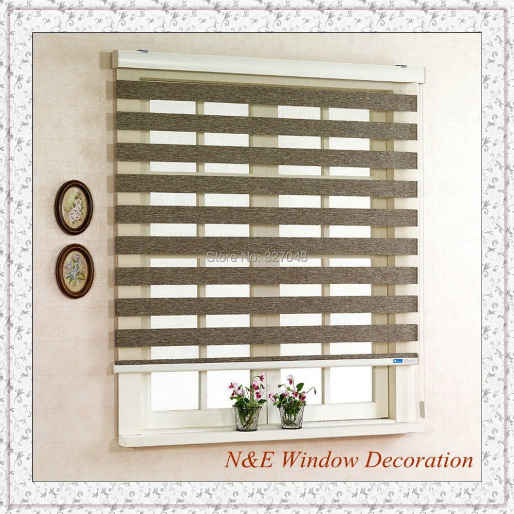 Free Shipping 100% Polyester Blackout Plastic Curtain Window Blinds And  Zebra Rooler Blinds For Living Room In Curtains From Home U0026 Garden On  Aliexpress.com ...