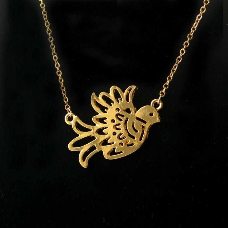 Nouveau à la mode Origami Colombe Oiseau pendentif Collier Ras Du Cou femmes  enfant bijoux de mode jolie charme délicat cadeau de noël fae8d70d0eee
