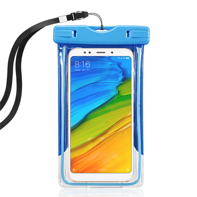 outlet store ca9fa 692d7 US $2.97 21% OFF|Xaomi Redmi 5 plus 5A Swim Phone Pouch Waterproof Case  Xiomi Redmi note 5 5A 5 pro Water Proof Cover Capinha Underwater Camera-in  ...
