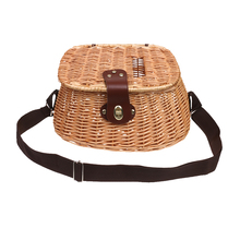 Wicker Fish Basket Fishing Creel Trout Perch Cage Tackle Box Home Decoration Vintage Fisherman Trap Pouch