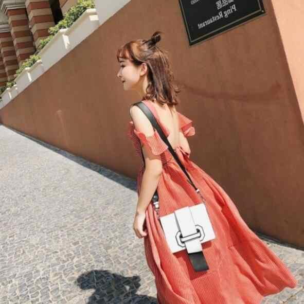 Выдолбленное пляжное платье 2019 летнее пляжное праздничное платье богемное Платье Бохо с оборками без рукавов сексуальное женское длинное платье DV452