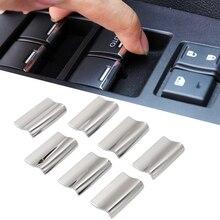 7 шт. нержавеющая сталь для Honda CRV CR V Fit City Accord кнопки для поднятия окон стикер с блестками