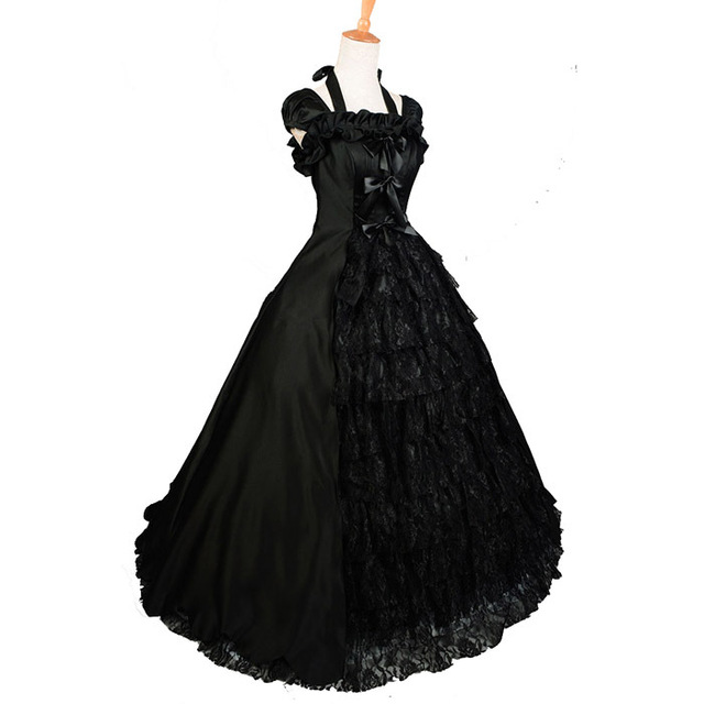 Black Medieval Victorian Adult Women Southern Belle Costume Ball ...