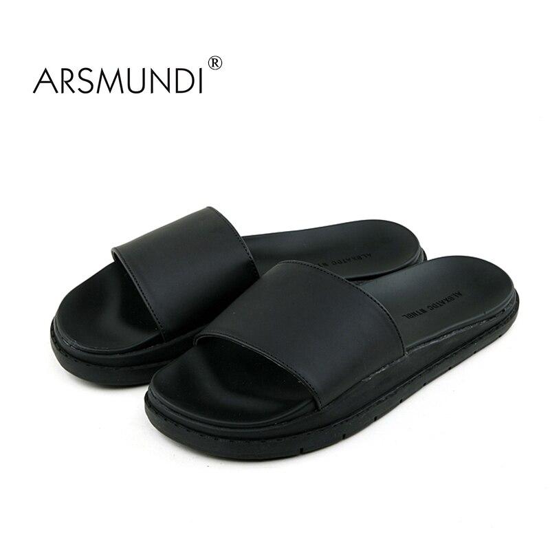 6e72cb6a8c17 ARSMUNDI 2018 New Summer Bathroom Slippers Women Men Unisex Non slip  Outside Home Slipper Outdoor Flip Flops Superstar Slides-in Slippers from  Shoes on ...