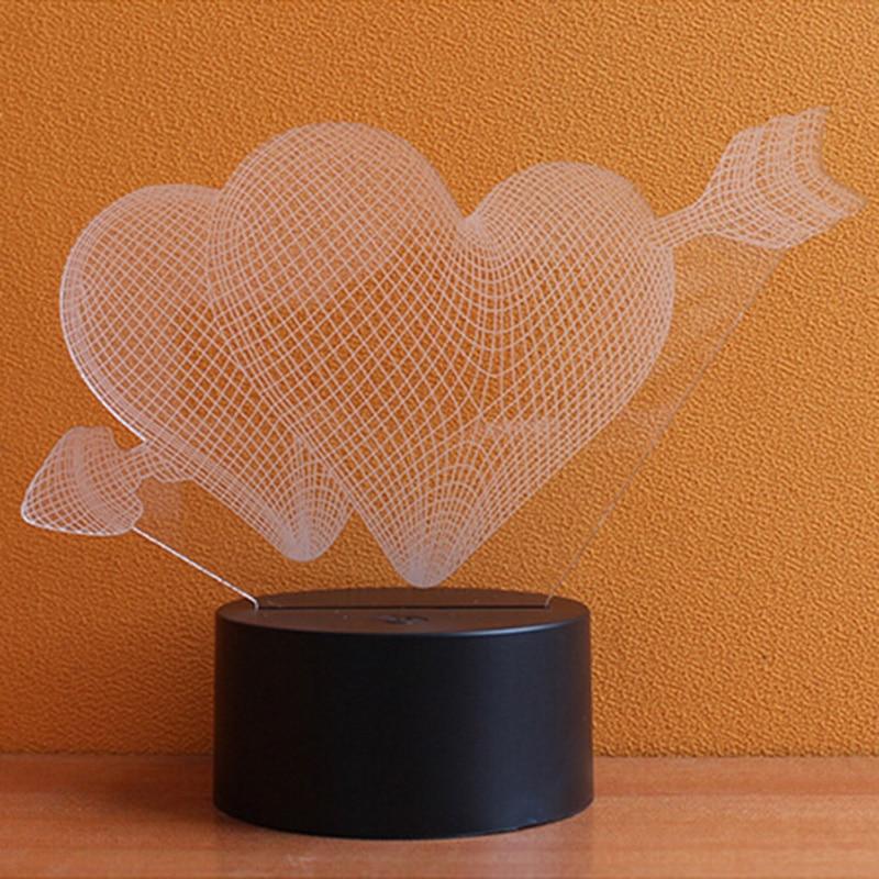 Luzes da Noite 3d lâmpada led night light Lamp Pane Material : Acrylic