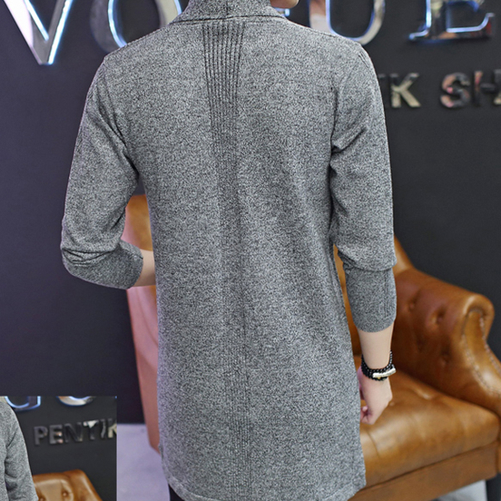 2705b10d3 Hot Casual Md Long Long Sleeve Knitted Cardigan Men s Solid Color Coat Slim  Fit Outwear Drop Shipping-in V-Neck from Men s Clothing on Aliexpress.com  ...