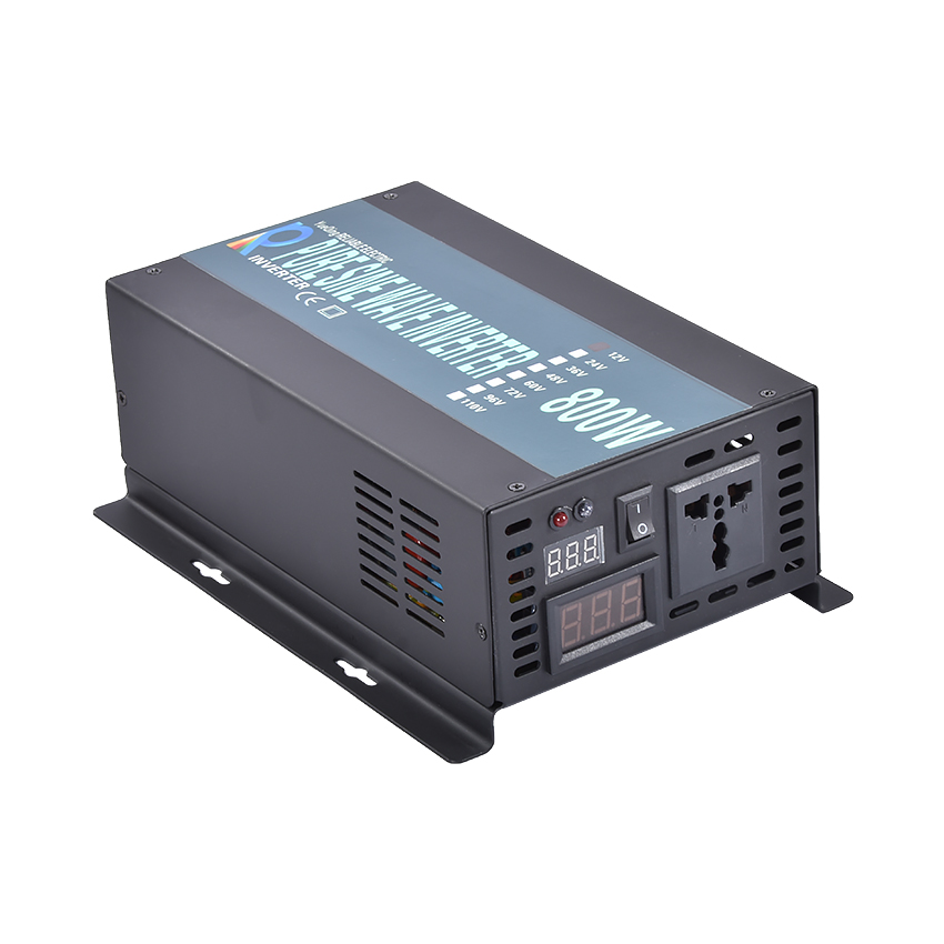 LED display Off grid solar inverter RBP-800S 12/24/48VDC to 110/220VAC 800 W nominal sinusoidal Pure Wave Power InverterLED display Off grid solar inverter RBP-800S 12/24/48VDC to 110/220VAC 800 W nominal sinusoidal Pure Wave Power Inverter