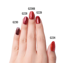 Red Diamond Hybrid Gel Nail Polish High Quality Long-lasting Soak Off  LED Manicure Beauty DIY Nail Art Tools 12 Colors 10ml