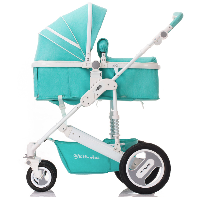 Baby stroller high landscape can sit in a stroller light folding summer and winter baby cart of Home Hang twin stroller high landscape can lay the portable folding baby cart