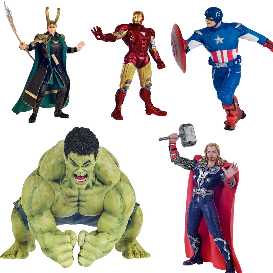 The avengers Loki Hulk Iron man action figure toys 2016 New  Captain America with shield  Ironman Thor hammer figurine figuras poptoys 1 6 soldier accessories the avengers loki loki windbreaker suit with cane for 12 action figure doll toys