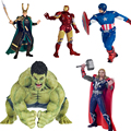 The avengers Loki Hulk Iron man action figure toys 2016 New  Captain America with shield  Ironman Thor hammer figurine figuras