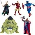 The avengers Loki Hulk Iron man figuras de acción juguetes 2016 nuevo capitán américa con escudo Ironman Thor hammer estatuilla figuras