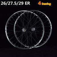 bicycle wheelset MTB mountain bicycle bike CNC front 2 rear 4 sealed bearings disc wheels 26 27.5 29 ER wheelset rim