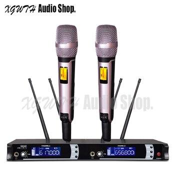 SKM9000 4 Antenna for Stage DJ Karaoke Dual Rose Gold 2 Handheld Mic Professional True Diversity UHF Wireless Microphone System