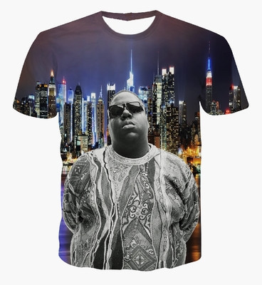 Hot 3D T Shirt Print Great Rapper Biggie Smalls Classic Graphic T Shirts Women/Men Fans Memorial Tees Short Sleeve Street Tops