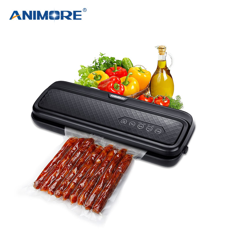 ANIMORE Food Vacuum Sealer Machine With 10pcs Bags Free For Food Saver Home 220V 110V Electric