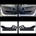 2pcs Fabric Door Protection Mats Anti-kick Decorative Pads For Audi TT