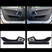 2pcs Fabric Door Protection Mats Anti kick Decorative Pads For Audi TT