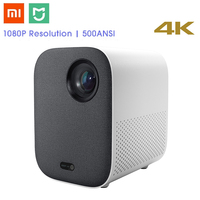 Xiaomi Mijia DLP Интеллектуальный Мини проектор 500 ANSI домашний кинотеатр 1080 P Голосовое управление 2 ГБ 8 ГБ 5 г WiFi 3D Dolby светодиодный кинопроектор