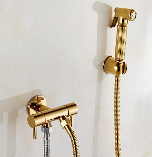 gold bidet spray set bidet toilet seat sprayer set spray. Black Bedroom Furniture Sets. Home Design Ideas