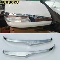 Luhuezu Fit For Lexus LX570 2012-2017 GX400 GX460 Side Rear-View Mirror Blinker Project Cover Trim