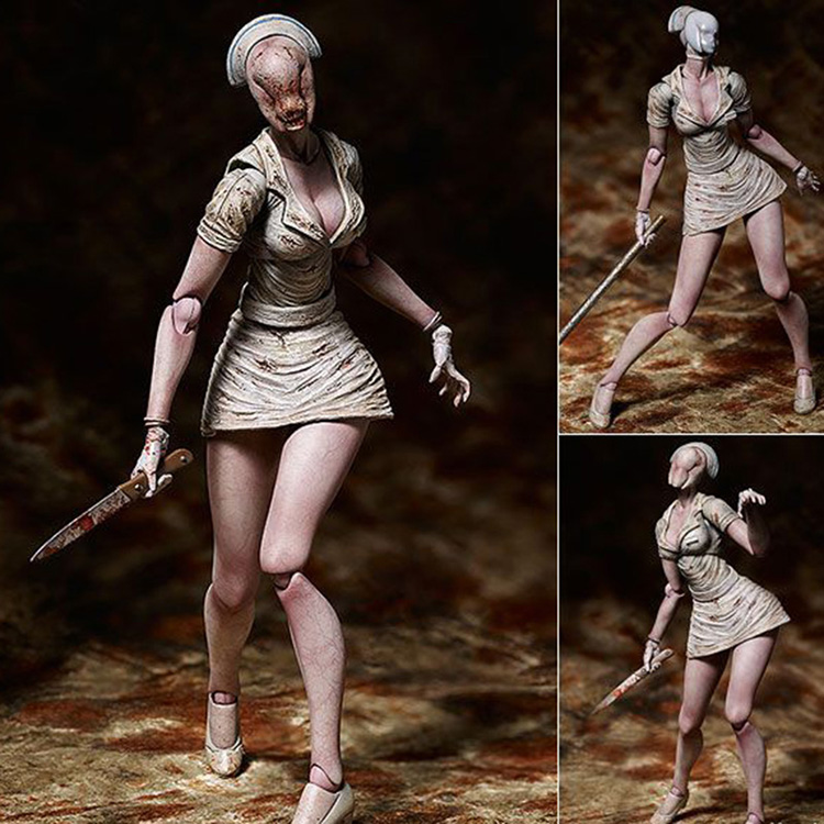 Horror Game Movie Silent Hill 2 Bubble Head Nurse Monster Figma SP-061 Action Figure Toys image