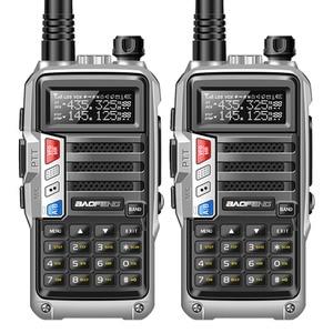 """Image 2 - 2PCS BaoFeng UV S9 עוצמה ווקי טוקי רדיו משדר 8W 10 ק""""מ ארוך טווח נייד רדיו סט להאנט יער & עיר"""