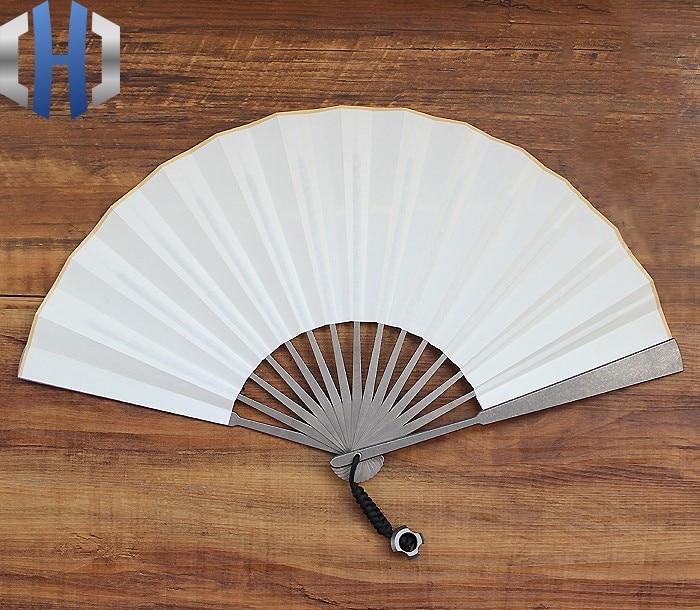 10-inch Titanium Alloy Folding Fan EDC Tactical Self-defense Defense Fan Taiji Martial Arts Fan