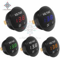 Universal Vehicle Car Auto Motorcycle DC 5 -48V 5 Color 3-Bit LED Display Panel Digital Voltmeter Voltage Meter Tester Monitor
