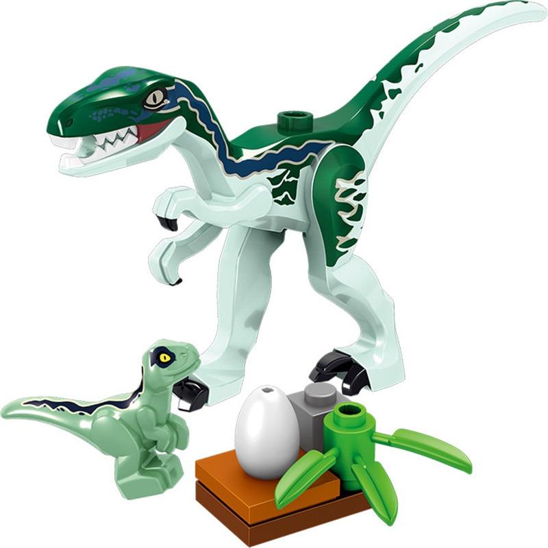 8Pcsset Legoingly Mini Big Dinosaurs Dinosaur Egg Building Blocks Jurassic Triceratops Velociraptors Lot Sets Toys for Children (7)
